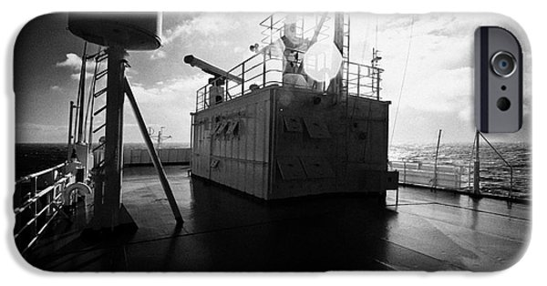 Upper Deck iPhone Cases - Expedition Ship Crossing The Drake Passage iPhone Case by Joe Fox