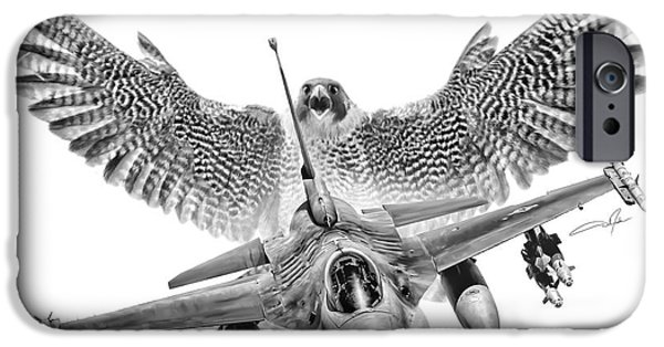 Bird Of Prey Art iPhone Cases - F-16 Fighting Falcon iPhone Case by Dale Jackson