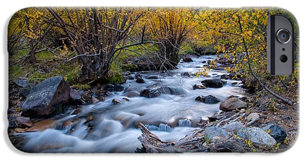 River iPhone Cases - Fall at Big Pine Creek iPhone Case by Cat Connor
