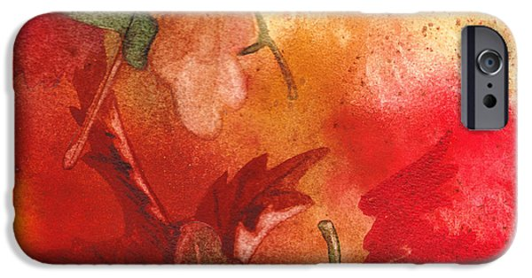 Galaxy Paintings iPhone Cases - Fall Impressions iPhone Case by Irina Sztukowski