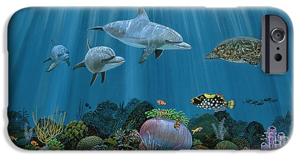 Kemp iPhone Cases - Fantasy reef Re0020 iPhone Case by Carey Chen
