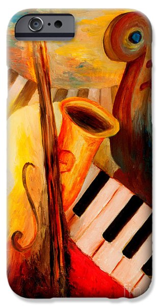 Keyboard Paintings iPhone Cases - Fatima Sound Shop iPhone Case by Larry Martin