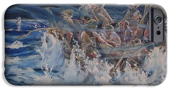 Jesus Walking On Water iPhone Cases - Fear Not iPhone Case by Nancy Raborn