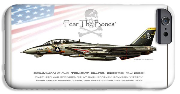 Wwi iPhone Cases - Fear The Bones iPhone Case by Peter Van Stigt