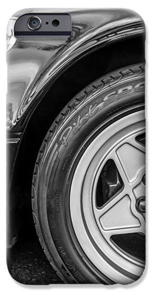 Automotive iPhone Cases - Ferrari Side Emblem - Wheel Emblem iPhone Case by Jill Reger
