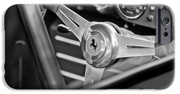 Steering iPhone Cases - Ferrari Steering Wheel iPhone Case by Jill Reger