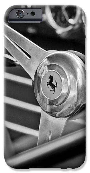 Ferrari Steering Wheel iPhone Case by Jill Reger