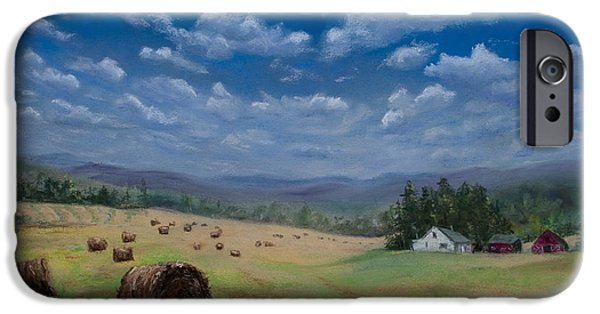 Field. Cloud Pastels iPhone Cases - Field of Dreams iPhone Case by Kathy Dolan