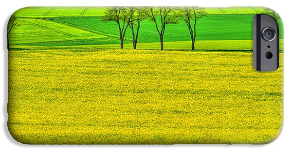 Rape iPhone Cases - Fields of Dreams iPhone Case by Midori Chan