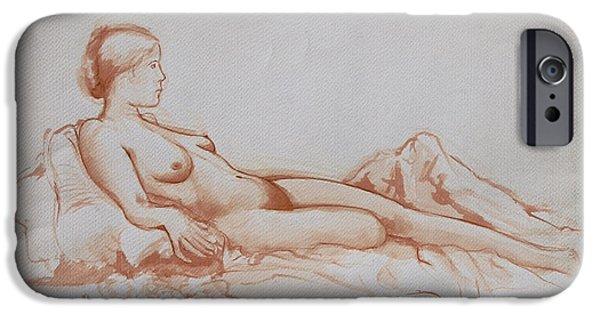 Figure Study iPhone Cases - Figure Study iPhone Case by Rachel Christine Nowicki