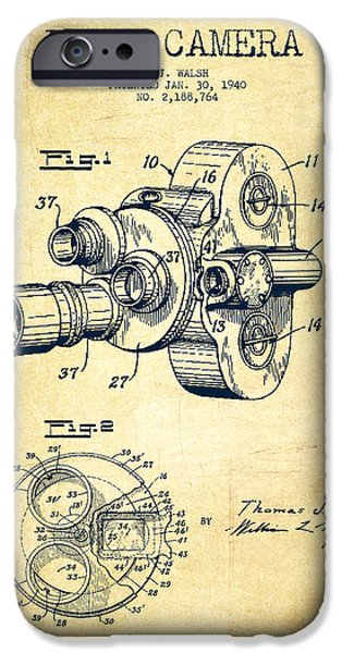 Recently Sold -  - Technical iPhone Cases - Film Camera Patent Drawing from 1938 iPhone Case by Aged Pixel