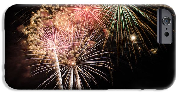 4th Of July iPhone Cases - Fireworks iPhone Case by Subhadeep Manna