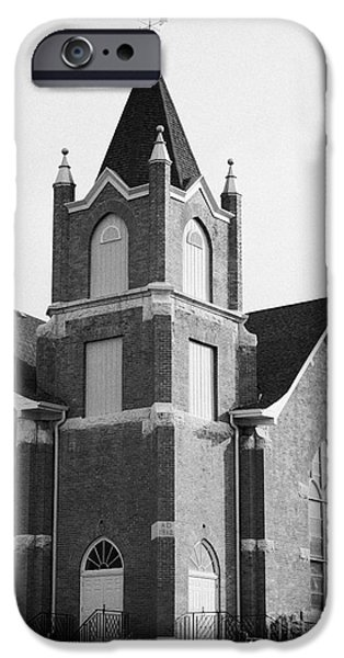 Sask iPhone Cases - first united church swift current Saskatchewan Canada iPhone Case by Joe Fox