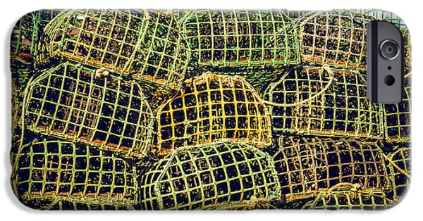 Netting iPhone Cases - Fishing Traps iPhone Case by Carlos Caetano