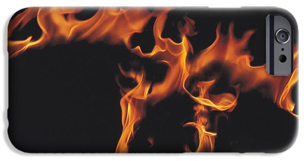 Abstract Digital iPhone Cases - Flames iPhone Case by Panoramic Images