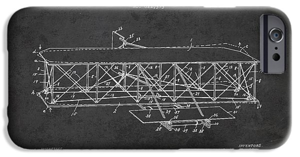 Flight iPhone Cases - Flying Machine Patent Drawing from 1906 iPhone Case by Aged Pixel