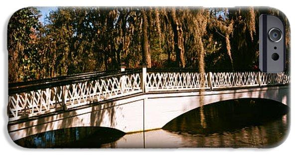 Garden Scene iPhone Cases - Footbridge Over Swamp, Magnolia iPhone Case by Panoramic Images