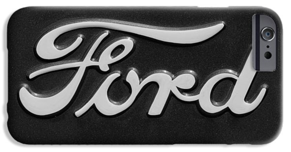 Best Sellers -  - Old Cars iPhone Cases - Ford Emblem iPhone Case by Jill Reger