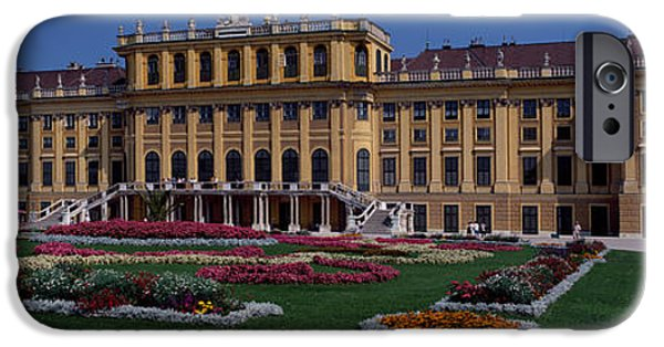 Garden Scene iPhone Cases - Formal Garden In Front Of A Palace iPhone Case by Panoramic Images