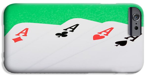 Concept iPhone Cases - Four aces iPhone Case by Modern Art Prints