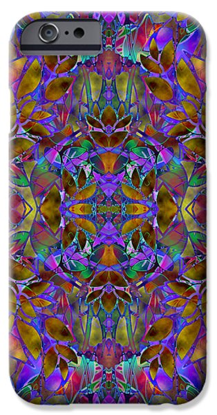 Colorful Abstract iPhone Cases - Fractal Floral Abstract iPhone Case by Medusa GraphicArt