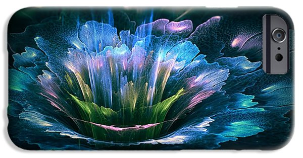 Abstract Digital Art iPhone Cases - Fractal flower iPhone Case by Martin Capek
