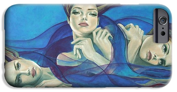 Cage Paintings iPhone Cases - Fragments of longing  iPhone Case by Dorina  Costras