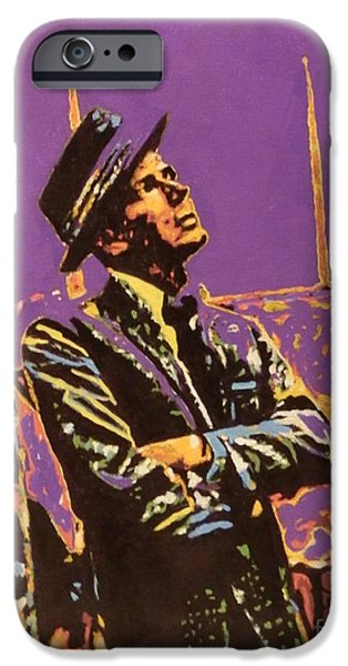 Frank Sinatra Paintings iPhone Cases - Frank iPhone Case by Laura Toth