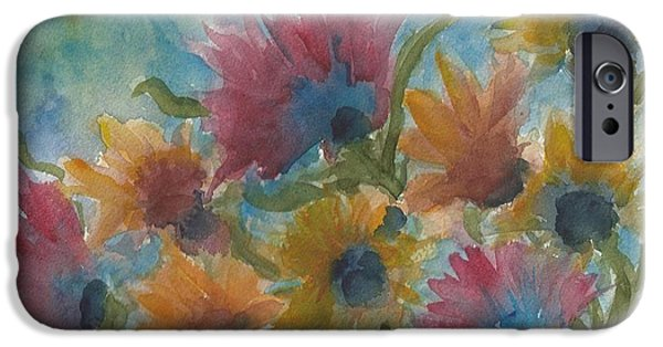 Free Form Paintings iPhone Cases - Free Spirits iPhone Case by Anne Olivier