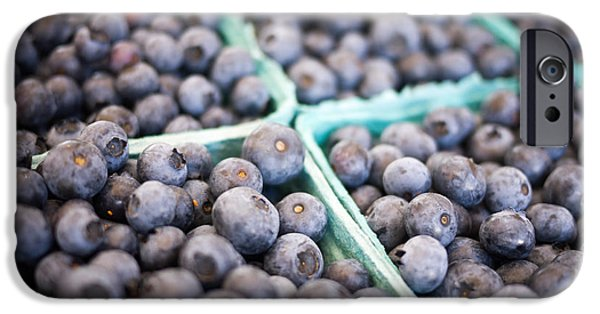 Farm Stand iPhone Cases - Fresh Blueberries iPhone Case by Edward Fielding