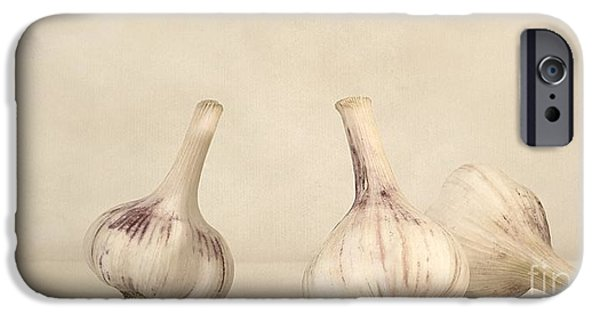 Still Life Photographs iPhone Cases - Fresh Garlic iPhone Case by Priska Wettstein