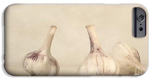 Still iPhone Cases - Fresh Garlic iPhone Case by Priska Wettstein