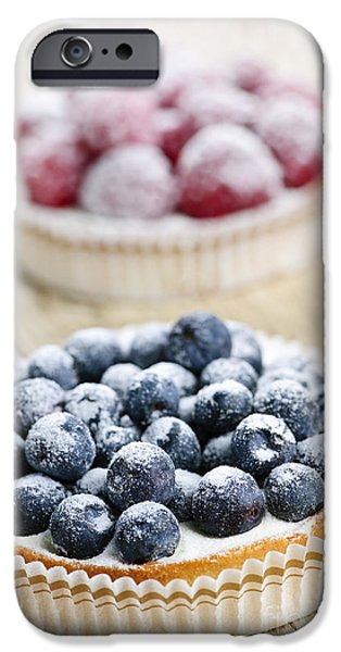 Berry iPhone Cases - Fruit tarts iPhone Case by Elena Elisseeva