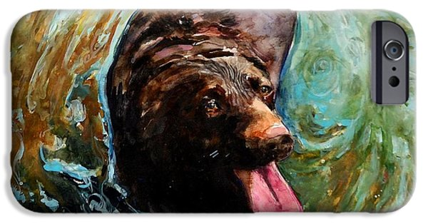 Chocolate Lab iPhone Cases - Fudge Ripple iPhone Case by Molly Poole