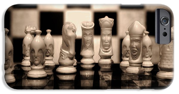 Chess Queen iPhone Cases - Game of Strategy iPhone Case by Mountain Dreams
