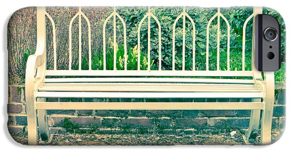 Furniture iPhone Cases - Garden bench iPhone Case by Tom Gowanlock