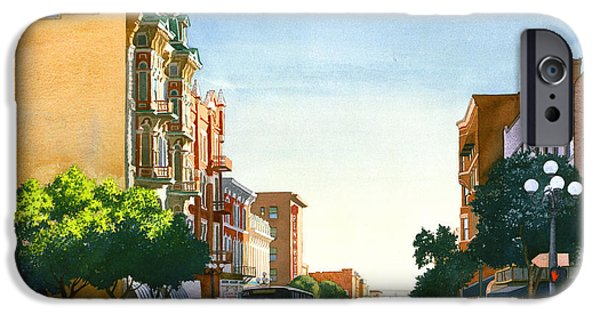 City Scene iPhone Cases - Gaslamp Quarter San Diego iPhone Case by Mary Helmreich