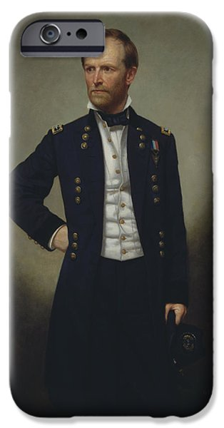 Williams iPhone Cases - General William Tecumseh Sherman iPhone Case by War Is Hell Store