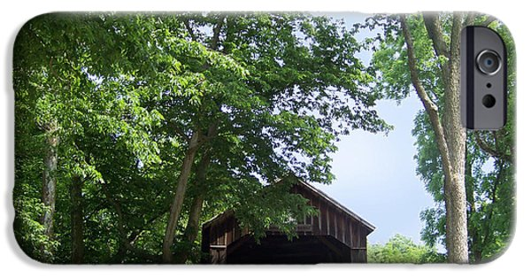 West Fork iPhone Cases - George Miller Covered Bridge iPhone Case by Charles Robinson