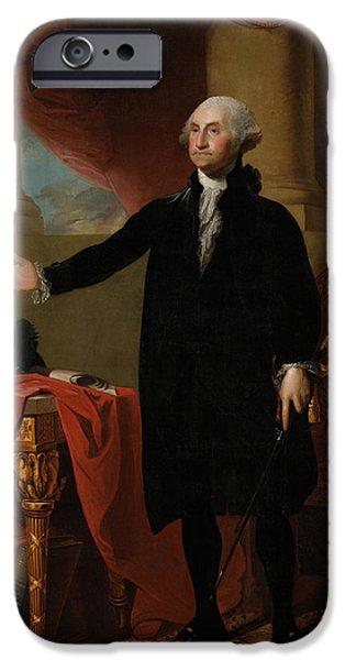 American Revolution iPhone Cases - George Washington iPhone Case by Gilbert Stuart