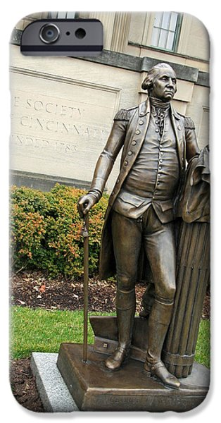 Recently Sold -  - Cora Wandel iPhone Cases - George Washington -- The American Cincinnatus iPhone Case by Cora Wandel