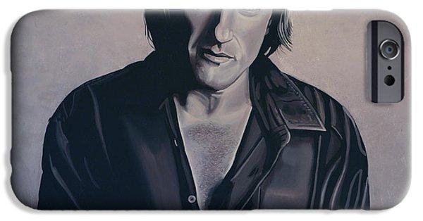 Russia Paintings iPhone Cases - Gerard Depardieu iPhone Case by Paul  Meijering