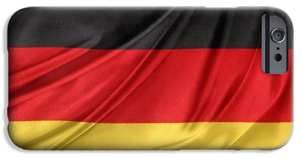 Patriotism iPhone Cases - German flag iPhone Case by Les Cunliffe