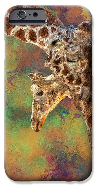Graphic Design iPhone Cases - Giraffes - Happened At The Zoo iPhone Case by Jack Zulli