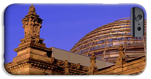 19th Century iPhone Cases - Glass Dome Reichstag Berlin Germany iPhone Case by Panoramic Images