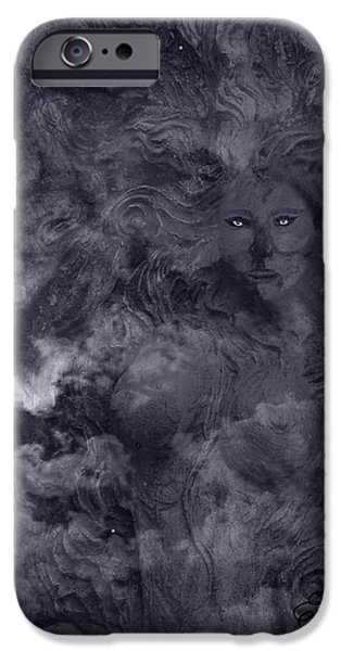 Eerie Mixed Media iPhone Cases - Goddess Vision iPhone Case by Ellen Henneke