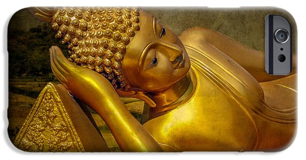Buddhism iPhone Cases - Golden Buddha iPhone Case by Adrian Evans