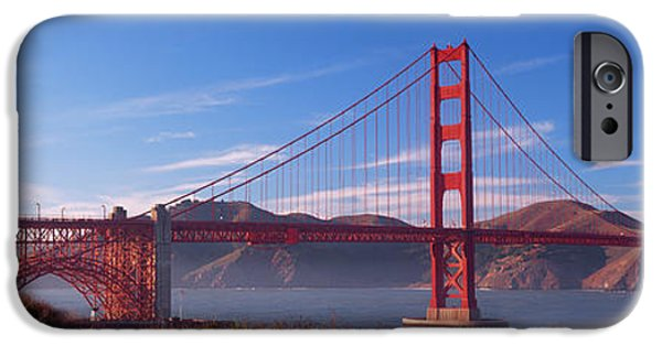 Skewed iPhone Cases - Golden Gate Bridge San Francisco iPhone Case by Panoramic Images