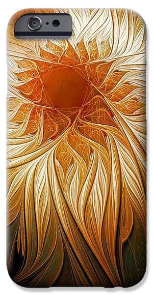 Floral Digital Art Digital Art iPhone Cases - Golden Glory iPhone Case by Amanda Moore