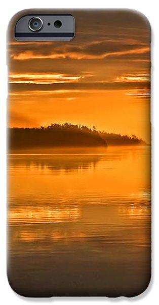 Golden  Sunrise iPhone Case by Robert Bales